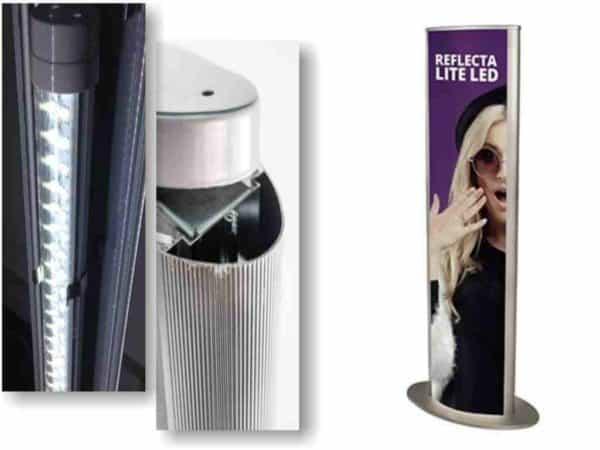 lightbox kolumna podświetlana LED systemy