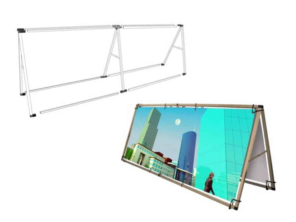 rama aluminiowa składana do banera systemy