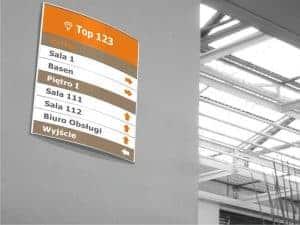 oznakowania informacyjne, tabliczki, systemy modułowe