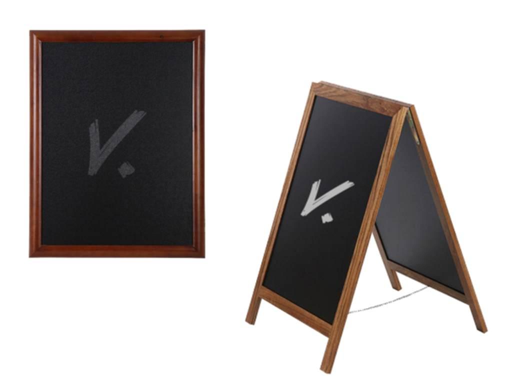tablica kredowa potykacz drewniany