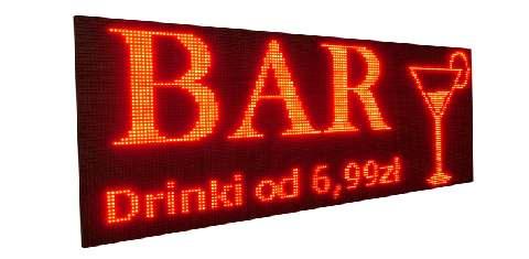 Nowość Wyświetlacze LED. Reklamowe tablice diodowe graficzne, tekstowe cennik VX95