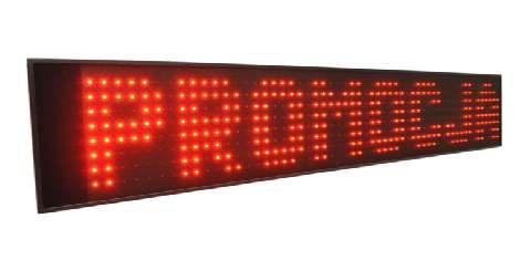 tekstowe wyświetlacze LED tablice diodowe