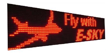 wyświetlacze graficzne LED tablice diodowe GL
