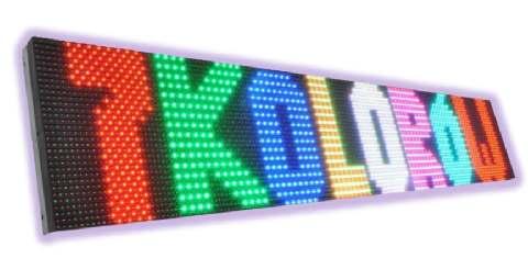 wyświetlacze tekstowe graficzne LED 7 kolorow