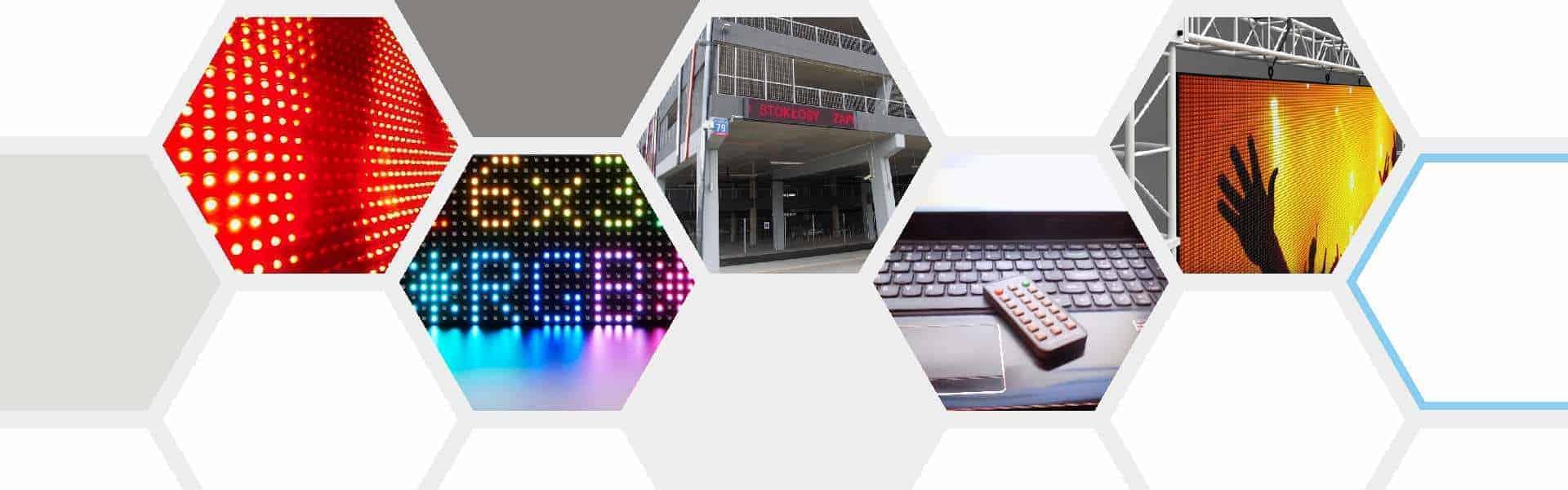 wyświetlacze tekstu tablice LED ekrany diodowe