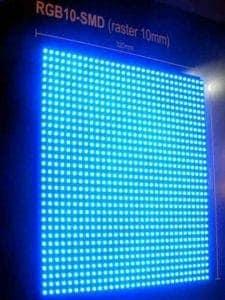 matryca wyświetlacza LED raster 10 mm