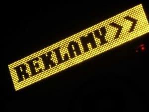 reklamowy wyświetlacz graficzny LED żółte diody