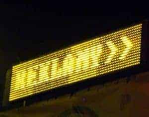 reklamowy wyświetlacz graficzny LED żółte diody N