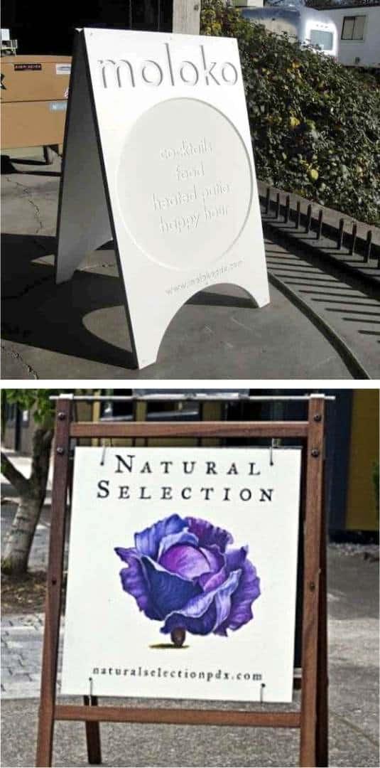 potykacze reklamowe stojaki interesujące wzory z pinterest