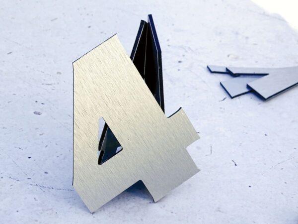Cyfry wycinanie reklamy przestrzennej metalowe z Dibondu napisy CNC