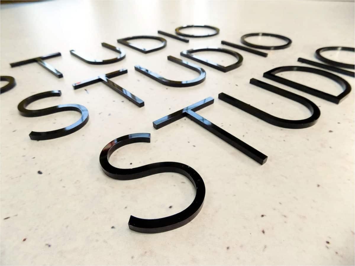 Napisy 3D - Galeia: napisy przestrzenne