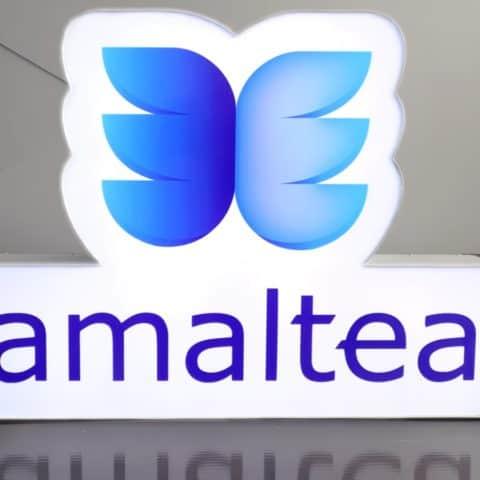 Kaseton reklamowy wyginany do kształtu logo mińsk