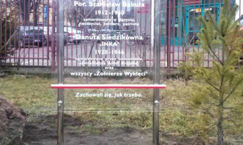 Mińsk Mazowiecki tablica pamiątkowa INKA reklamy Arek