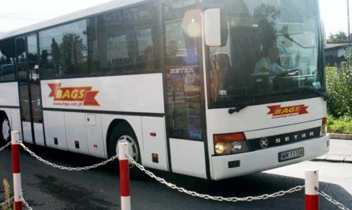 autobus linii BAGS stare logo by reklamyArek
