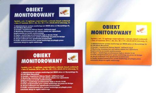 Tabliczki z Dibondu drukowane bezpośrednio ploterem UV   Tablice reklamowe, informacyjne, urzędowe