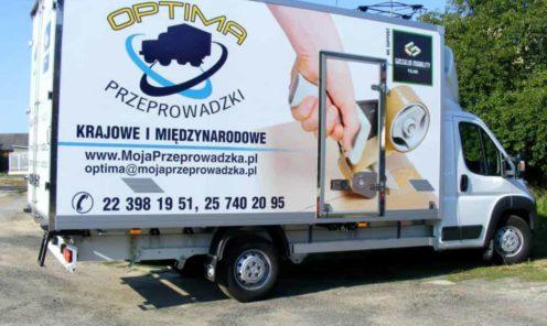 reklama na samochód dostawczy ciężarowy mińsk mazowiecki   Reklama na samochody dostawcze - ciężarowe