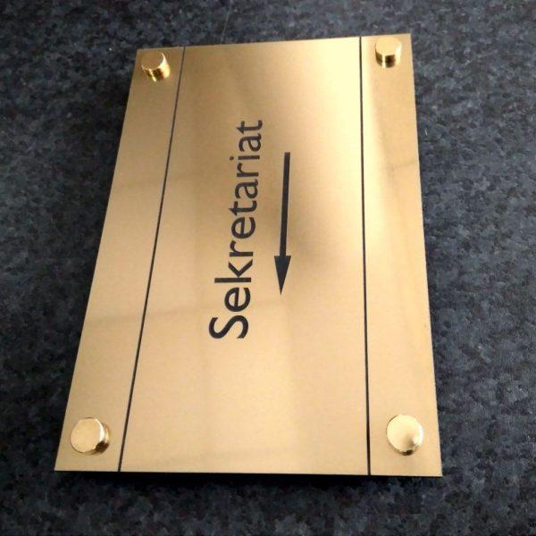 Grawerowanie laser wycinanie CNC laminat złoty