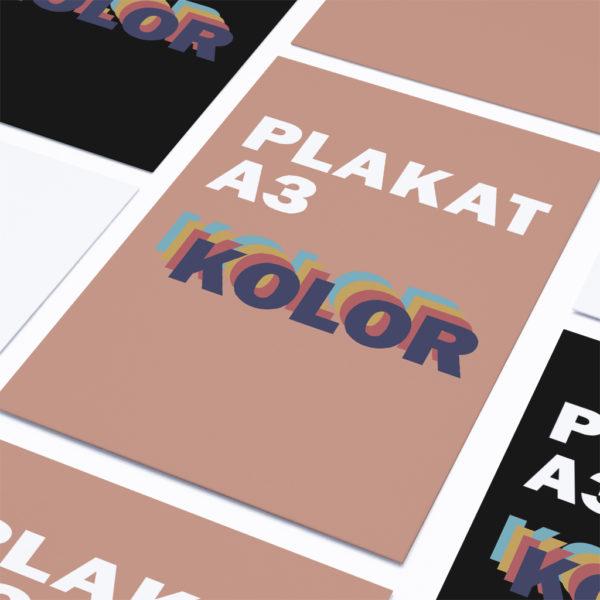 Plakaty xero kolor A3 pakiet