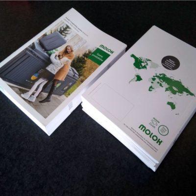 cyfrowy laserowy druk broszury katalogu gazetki