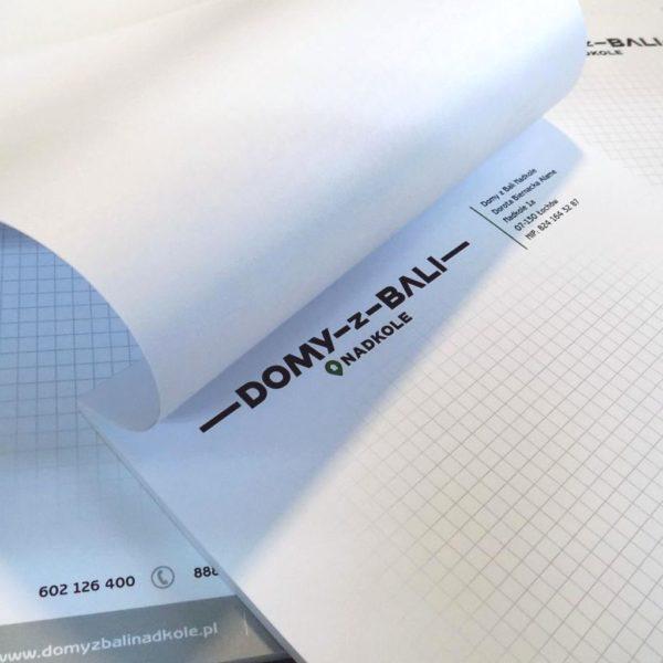 poligrafia druk laserowy bloczki notatniki klejone