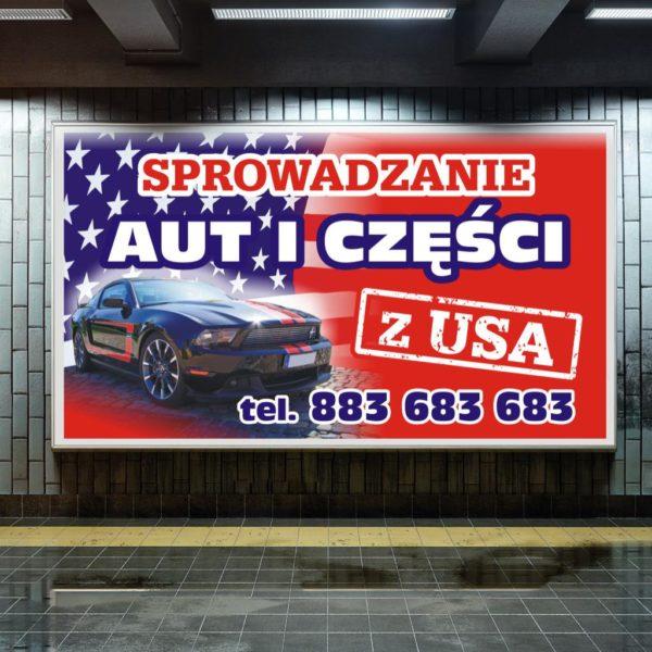 Przykład druku plakatu na billboard reklamowy