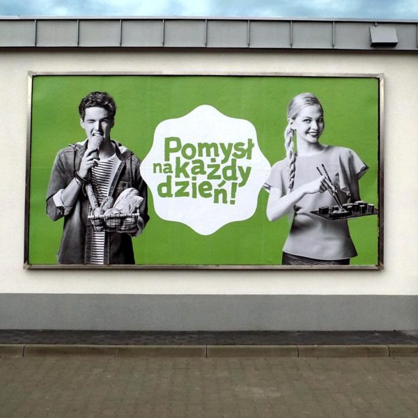 Wydruk plakatu BBS na billboard reklamowy
