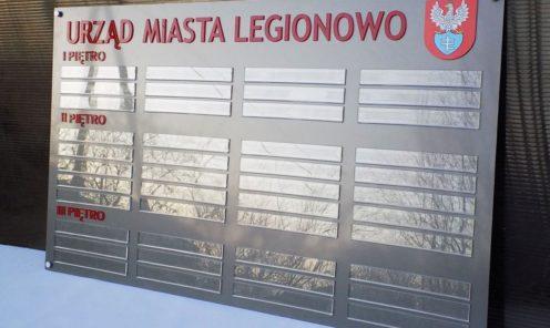 Oznakowanie Urzędu Miasta tablice wewnętrzne tablica na ścianę