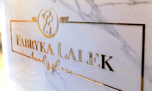 lustrzane złote logo elegancka reklama