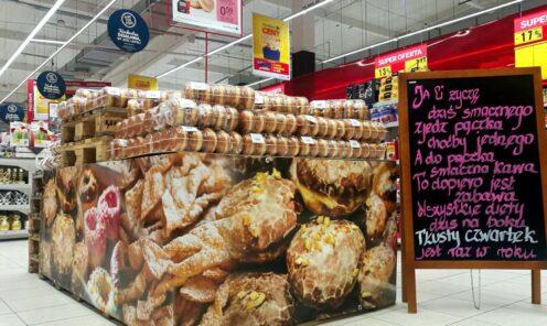 baner reklamowy na stoisko dekoracja sklepu