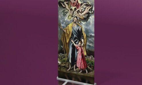 roll up wizualizacja grafiki reprodukcja obrazu El Greco