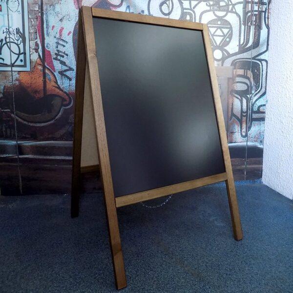 Drewniany potykacz reklamowy do pisania kredą stojak