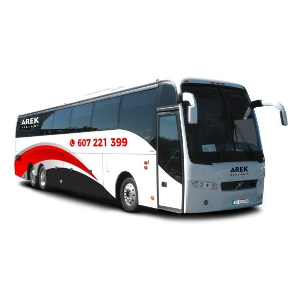 Reklama - naklejki na autokar, autobus 3