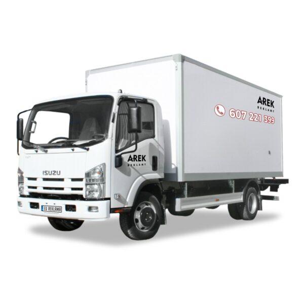 Reklama - naklejki na samochód ciężarowy 1
