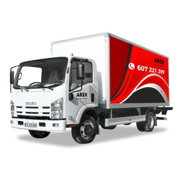 Reklama - naklejki na samochód ciężarowy 3