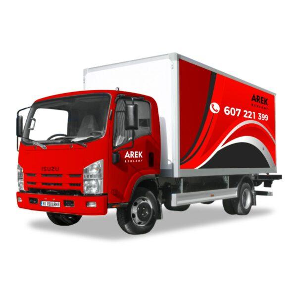 Reklama - naklejki na samochód ciężarowy 4