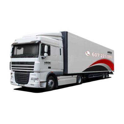 Reklama - naklejki na samochód ciężarowy TIR (ciągnik siodłowy z naczepą) 2