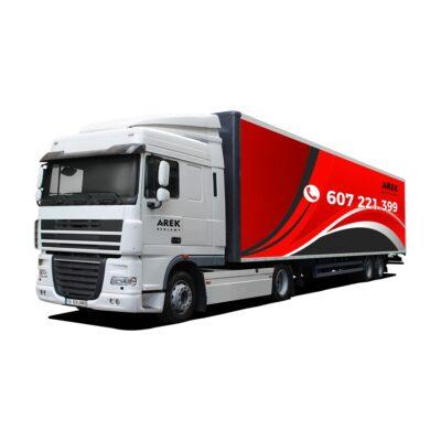 Reklama - naklejki na samochód ciężarowy TIR (ciągnik siodłowy z naczepą) 3