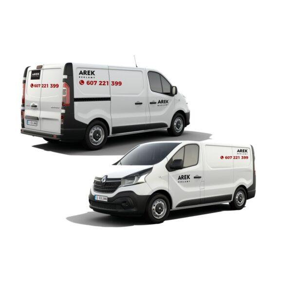 Reklama - naklejki na samochód dostawczy typu furgonetka, furgon, bus 1
