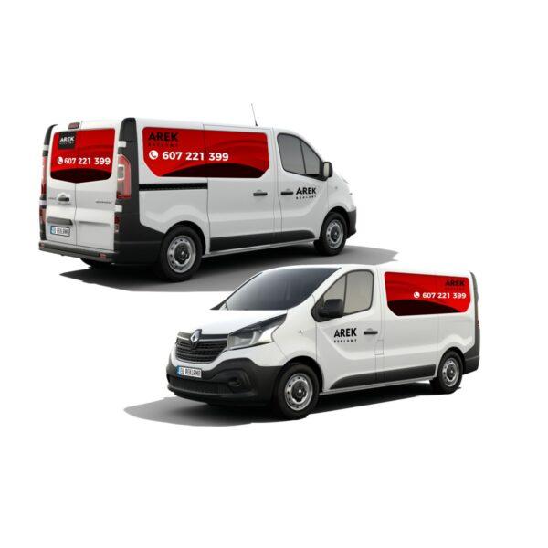 Reklama - naklejki na samochód dostawczy typu furgonetka, furgon, bus 2