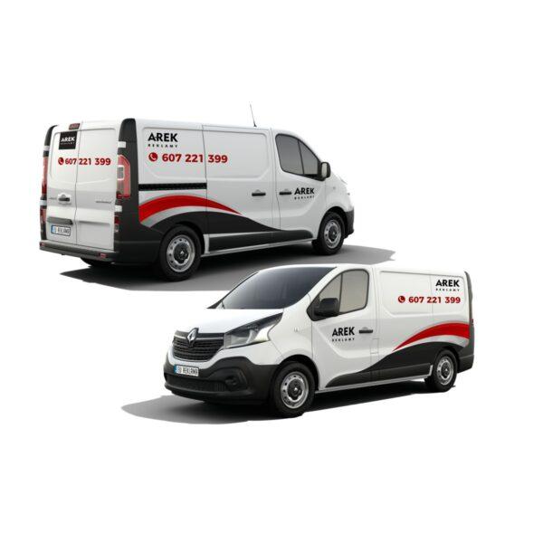Reklama - naklejki na samochód dostawczy typu furgonetka, furgon, bus 3