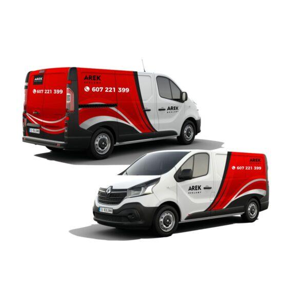 Reklama - naklejki na samochód dostawczy typu furgonetka, furgon, bus 4