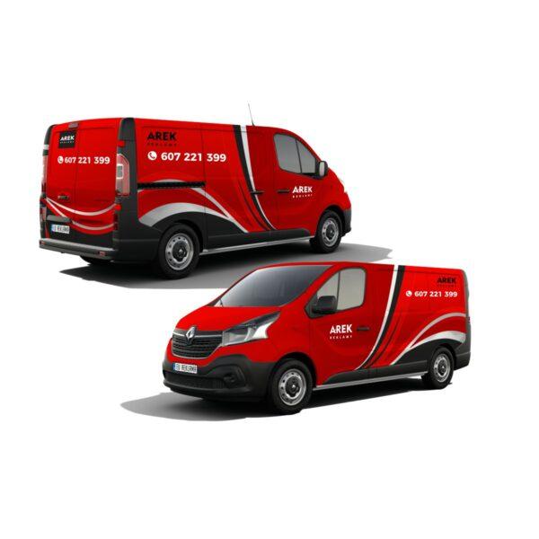 Reklama - naklejki na samochód dostawczy typu furgonetka, furgon, bus 5