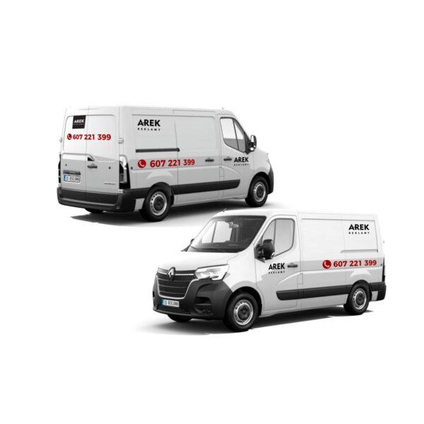 Reklama - naklejki na samochód dostawczy typu furgonetka, furgon, bus duży 1