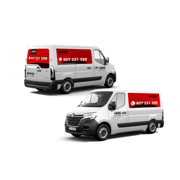 Reklama - naklejki na samochód dostawczy typu furgonetka, furgon, bus duży 2