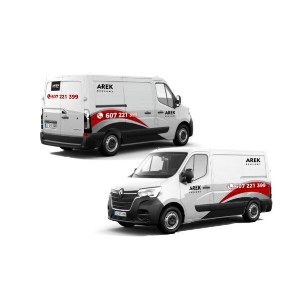Reklama - naklejki na samochód dostawczy typu furgonetka, furgon, bus duży 3