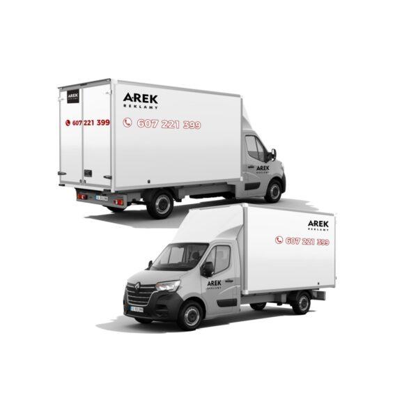 Reklama - naklejki na samochód dostawczy typu kontener, chłodnia, foodtruck 1