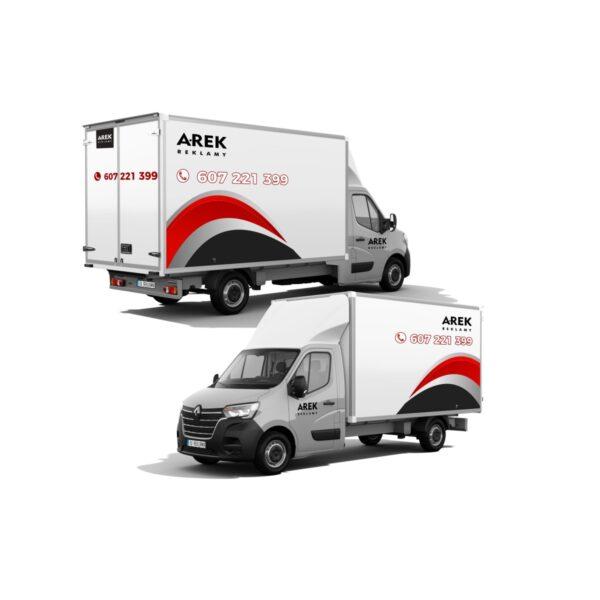 Reklama - naklejki na samochód dostawczy typu kontener, chłodnia, foodtruck 2