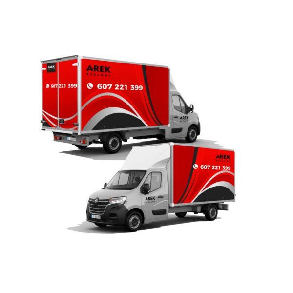 Reklama - naklejki na samochód dostawczy typu kontener, chłodnia, foodtruck 3