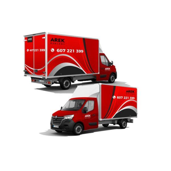 Reklama - naklejki na samochód dostawczy typu kontener, chłodnia, foodtruck 4