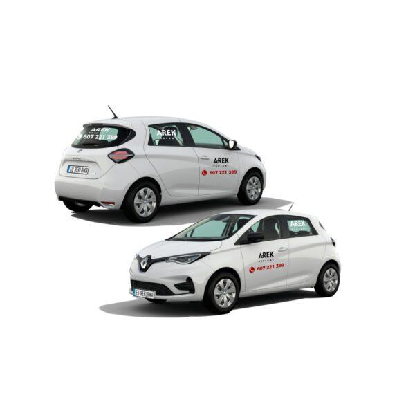 Reklama - naklejki na samochód osobowy mały - segment A 1